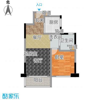 康桥半岛(五期)60.00㎡一房二厅一卫-69.72平方米-32套户型
