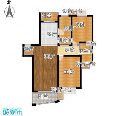 城市艺术季110.00㎡房型: 二房; 面积段: 110 -115 平方米; 户型