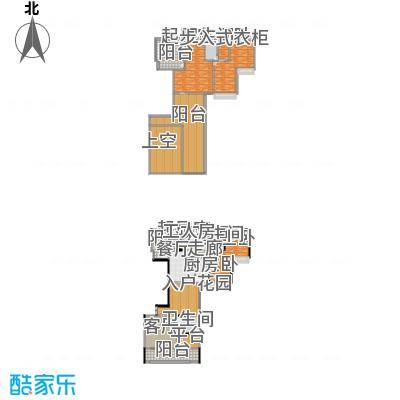 路福江韵华府四房三厅四卫283.99平米户型