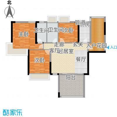 路福江韵华府三房两厅两卫139.07平米户型