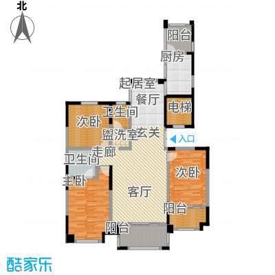 华森丽江豪庭三房两厅两卫加四阳台面积约为142.95平米户型