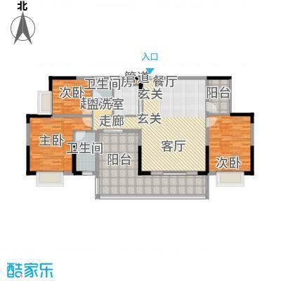 路福江韵华府四房两厅两卫143.1平米户型