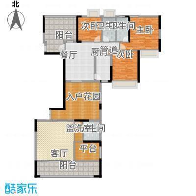 路福江韵华府三房两厅三卫198.7平米户型