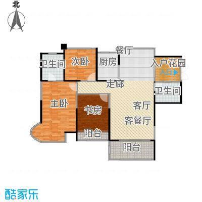 嘉福尚江尊品116.70㎡户型3室1厅2卫1厨