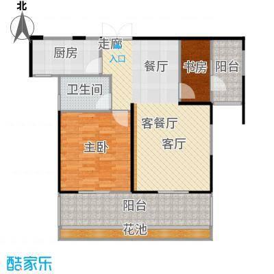 嘉福尚江尊品84.40㎡户型10室