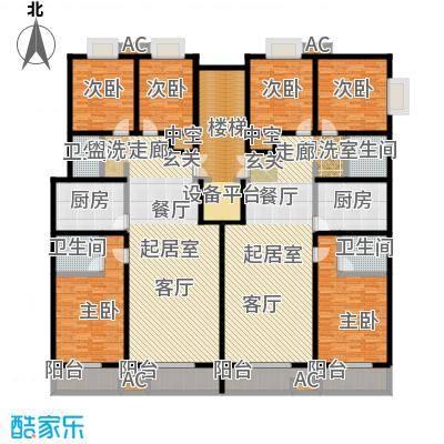 裕昌太阳城150.00㎡C户型图 3室2厅2卫1厨户型