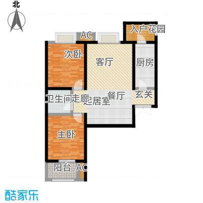 裕昌太阳城100.00㎡二房户型-T