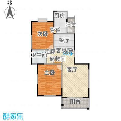 大华颐和华城97.00㎡房型: 二房; 面积段: 97 -117 平方米; 户型