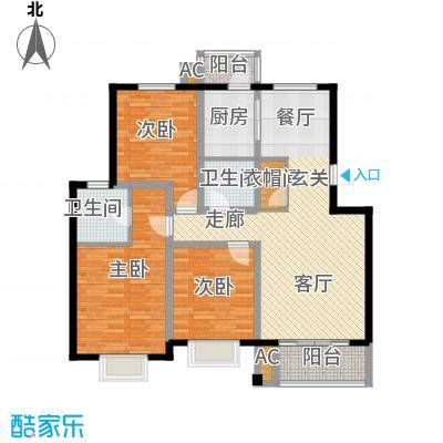 金厦水语花城81.00㎡房型: 二房; 面积段: 81 -100 平方米;户型