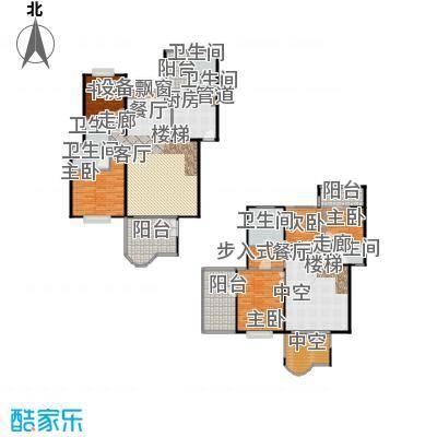 枫林绿洲A9公馆250.59㎡F型结构户型