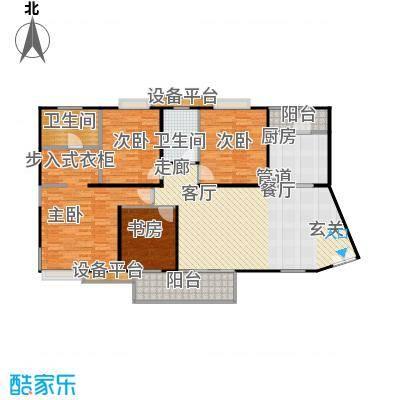 枫林绿洲A9公馆147.31㎡B型结构 4室2厅2卫户型