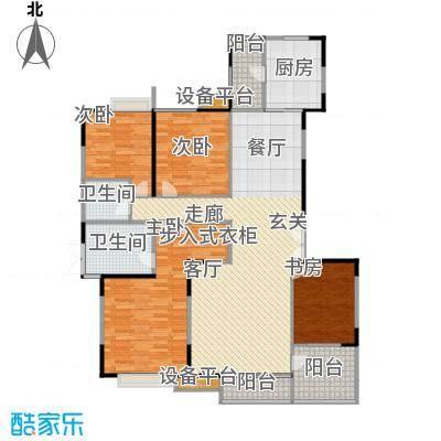 枫林绿洲A9公馆125.74㎡D型结构 4室2厅2卫户型