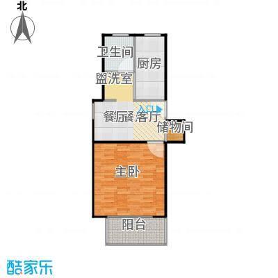 爱盛家园59.00㎡房型: 一房; 面积段: 59 -73 平方米; 户型