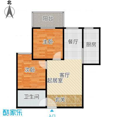 江林公园里77.85㎡3期2号楼B3餐厨一体化主卧自带落地阳台户型10室
