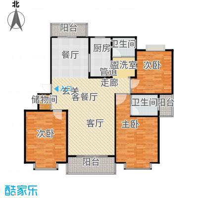 爱盛家园138.00㎡3室2厅2卫1厨138.00㎡户型3室2厅2卫