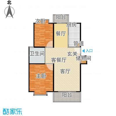 爱盛家园106.00㎡房型: 二房; 面积段: 106 -121 平方米; 户型