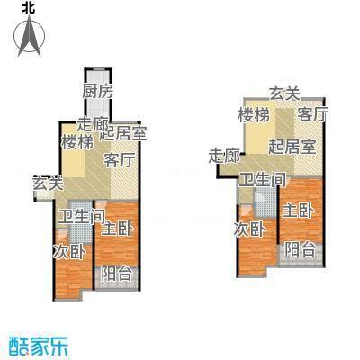 江林公园里191.71㎡3期7号楼D-4双客厅设计卧室全南设计户型10室