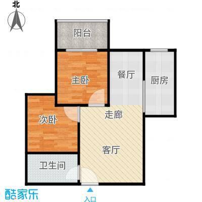 江林公园里71.26㎡3期7号楼D5主卧自带全景阳台餐厨一体化户型10室
