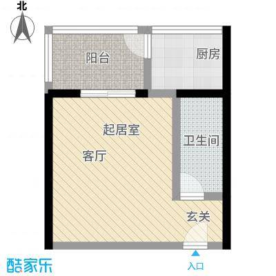 爱菊佳园53.00㎡爱菊佳园户型1室1厅1卫