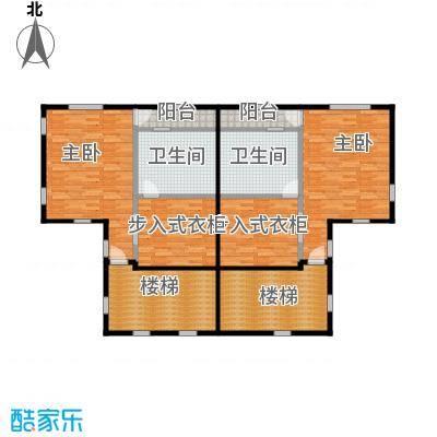 福晟钱隆城150.14㎡21号楼三层平面图扫描户型2室2卫