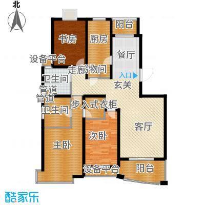 城市艺术季134.00㎡房型: 三房; 面积段: 134 -150 平方米; 户型