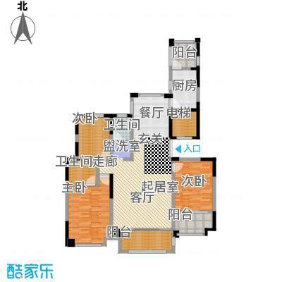 华森丽江豪庭三房两厅两卫加四阳台面积约为142.57平米户型