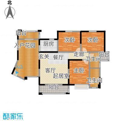 华森丽江豪庭两房两厅两卫加超大入户花园加双阳台面积约137.16平米户型