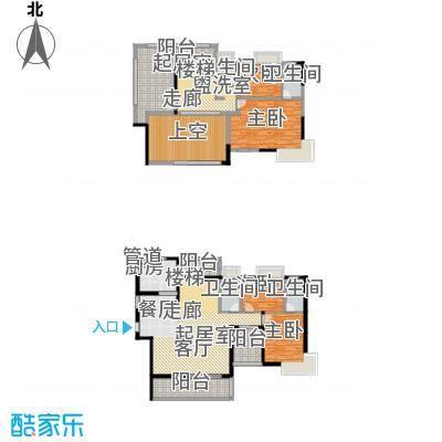 路福江韵华府五房三厅四卫220.54平米户型