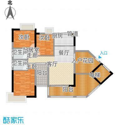 路福江韵华府四房两厅两卫128.48平米户型