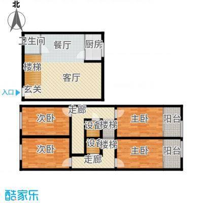 领先心城一期户型4室1厅1卫1厨
