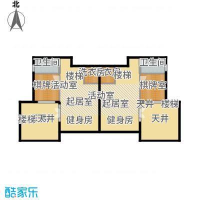 恒大山水城B1-2地下一层 地上面积:186.5平米 地下面积:60.23平米户型