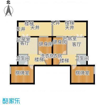恒大山水城B3-1地下一层 地上面积:244.68平米 地下面积:61.17平米户型
