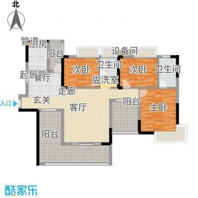 路福江韵华府四房两厅两卫142.05平米户型