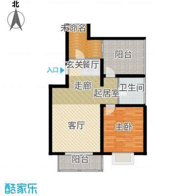 大地12城二期--朗琴园风景洋房B区1819号楼六层A区671112号楼六层户型1室1卫