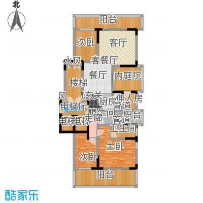 翠屏国际城172.00㎡四房二厅二卫-198平方米-23套户型