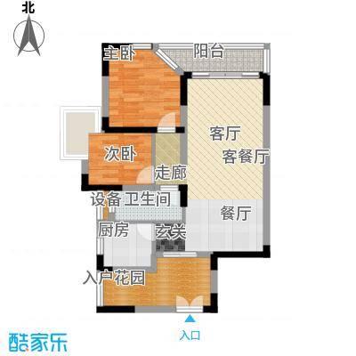 翠屏国际城户型2室1厅1卫1厨