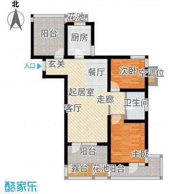 景瑞阳光尚城89.00㎡2室2厅1卫户型