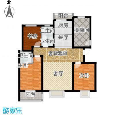 金桥天海湾135.87㎡A2户型 三室两厅两卫户型3室2厅2卫