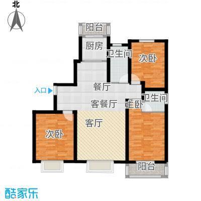 金桥天海湾134.80㎡A1东楼头 三室两厅两卫户型3室2厅2卫