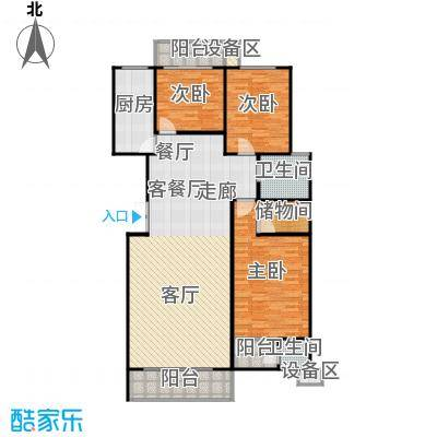 滨河雅园134.50㎡6号楼 三室两厅一厨两卫户型3室2厅2卫