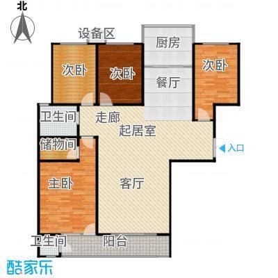 滨河雅园164.00㎡7号楼 四室四厅一厨两卫户型4室3厅2卫