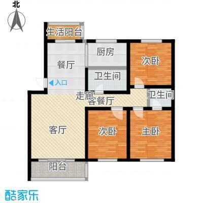 福郡雅居125.80㎡A1户型3室2厅2卫户型3室2厅2卫