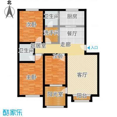 福郡雅居121.45㎡B 户型3室2厅2卫户型3室2厅2卫