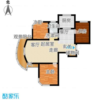君临颐和花园319.00㎡房型: 双联别墅; 面积段: 319 -348 平方米; 户型