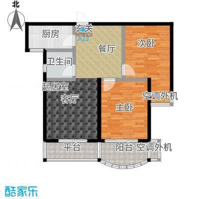 龙湾两室两厅一卫户型2室2厅1卫