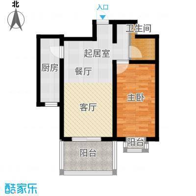 和园59.82㎡1室2厅1卫1厨户型1室2厅1卫