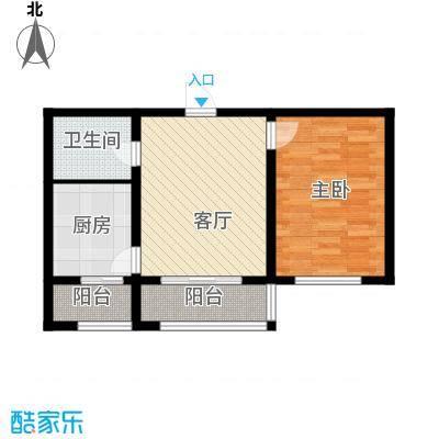 天津未来城61.98㎡B户型1室1厅1卫