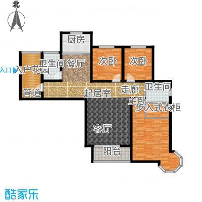 西城国际136.20㎡7-1户型3室2卫1厨