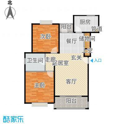 南洋瑞都90.00㎡房型: 二房; 面积段: 90 -109 平方米; 户型