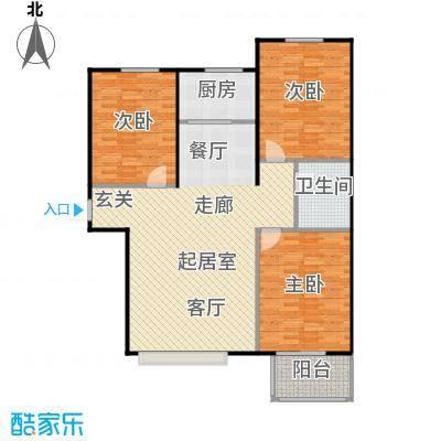 福美公馆117.00㎡CDE户型 三室两厅一卫户型3室2厅1卫